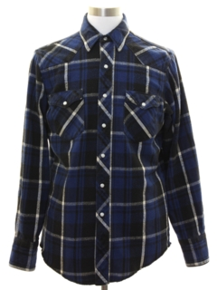 1990's Mens Western Style Flannel Shirt