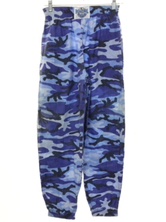 1980's Unisex Ladies or Boys Totally 80s Camo Baggy Print Pants