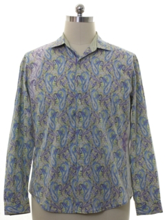 1990's Mens Robert Graham Designer Shirt