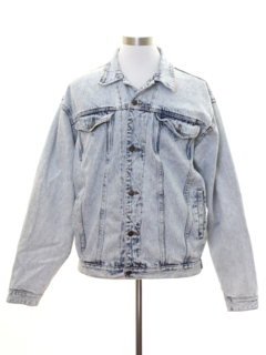1980's Mens Totally 80s Style Acid Washed Denim Grunge Jacket