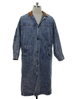 1980's Mens Totally 80s Denim Duster Jacket