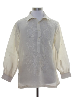1970's Mens Sheer Poet Style Hippie Shirt