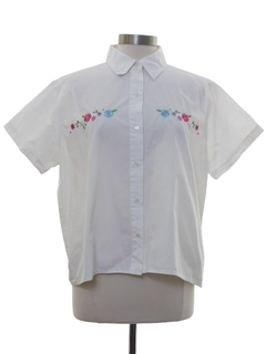 1990's Womens Embroidered Shirt