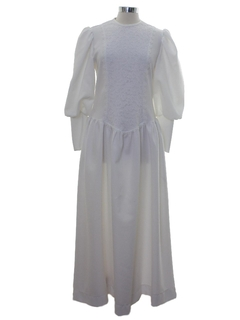 1970's Womens Hippie Knit Wedding Dress