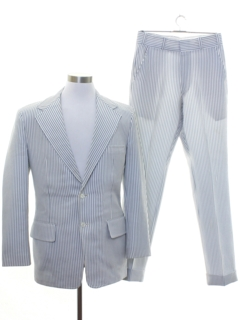 1970's Mens Pinstriped Disco Suit