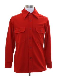 1970's Mens Mod Knit Board Style Shirt