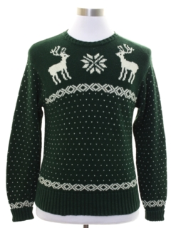1980's Mens Ralph Lauren Reindeer Ski Sweater