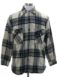 1970's Mens CPO Flannel Shirt Jacket