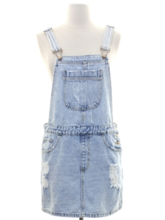1990's Womens y2k Grunge Denim Jumper Overalls