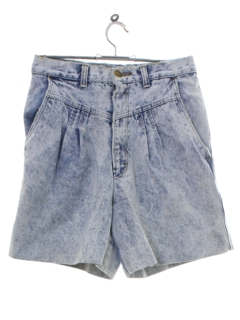 1980's Womens Totally 80s Acid Washed Denim Grunge Shorts
