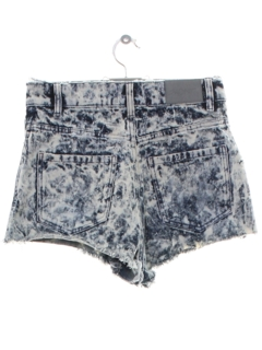 1990's Womens Y2k Acid Washed Grunge Denim Cut Off Jeans Shorts