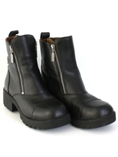 1990's Womens Accessories - Harley Davidson Motorcycle Boots Shoes