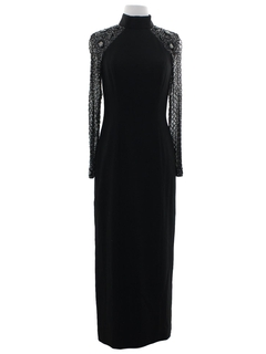 1990's Womens Wicked 90s Prom Or Cocktail Wiggle Maxi Dress