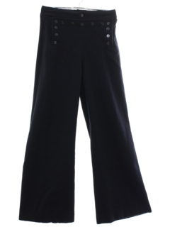 1970's Mens Navy Issue Wool Bellbottom Pants