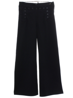 1960's Mens Navy Issue Wool Bellbottom Pants