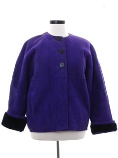 1980's Womens Totally 80s Faux Suede Jacket