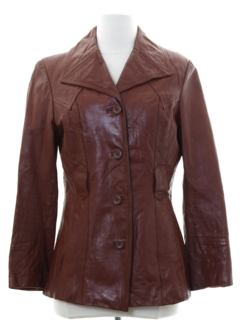 1970's Womens Mod Leather Jacket