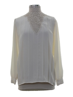 1970's Womens Victorian Inspired Secretary Shirt