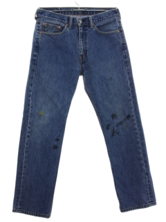 1990's Mens Grunge Levis 505 Straight Leg Denim Jeans Pants
