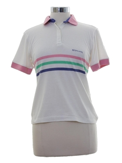 1980's Womens Totally 80s Spalding Golf Shirt