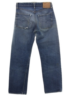 1960's Mens Levis Big E Indigo V Stitch 501 Jeans Pants