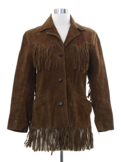1960's Womens Fringed Leather Jacket