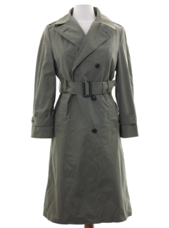 1980's Womens US Army Trench Coat Jacket