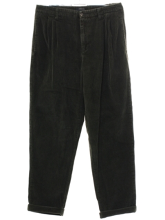 1980's Mens Totally 80s Corduroy Pleated Pants
