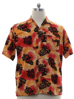 1990's Mens Hawaiian Style Sport Shirt