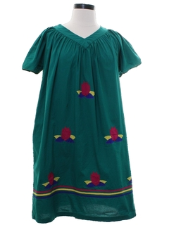 1970's Womens Hippie Muu Muu Dress