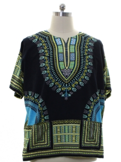 1970's Unisex Hippie Dashiki Shirt