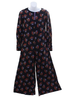 1960's Womens Hippie Bellbottom Jumpsuit