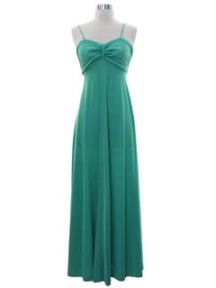 1980's Womens Prom Or Cocktail Maxi Disco Dress