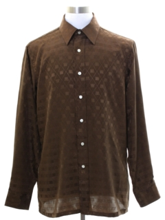1970's Mens Subtle Print Club or Disco Shirt