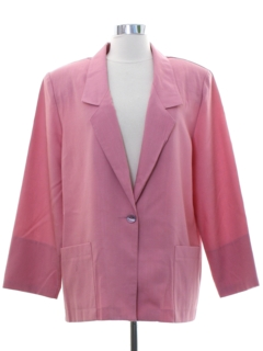 1980's Womens Totally 80s Boyfriend Style Blazer Coat Jacket