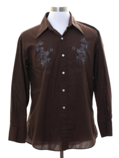 1970's Mens Embroidered Shirt