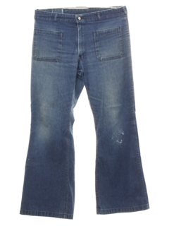 1970's Mens Grunge Bellbottom Jeans Pants