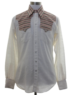 1970's Mens Hippie Western Shirt