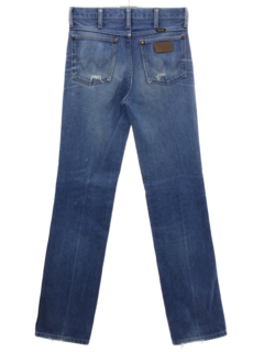 1980's Mens Wrangler Straight Leg Denim Jeans Pants