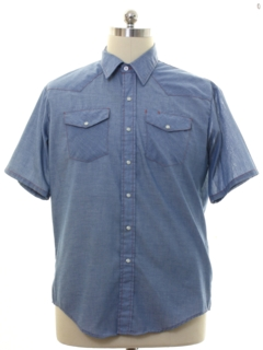 1980's Mens Chambray Big Mac Western Work Shirt
