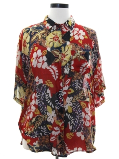 1980's Womens Rayon Totally 80s Oversized Shirt