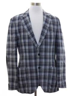1970's Mens Plaid Blazer Sport Coat Jacket