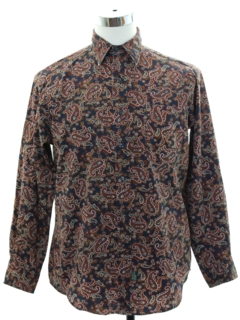 1990's Mens Preppy Paisley Shirt