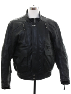 1990's Mens Motorcycle Leather Jacket