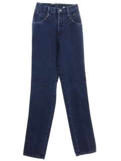 1980's Womens Rockies Totally 80s Highwaisted Western Jeans Pants
