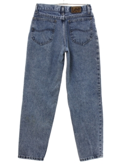 1980's Womens Lee Totally 80s Acid Washed Denim Jeans Pants