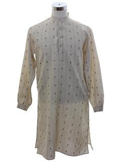 1970's Mens Hippie Caftan Shirt