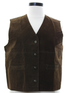 1990's Womens Suede Leather Vest