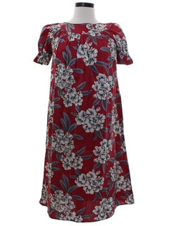 1960's Womens A-Line Muumuu Dress
