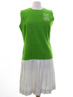 1970's Womens Mod Linen Dress